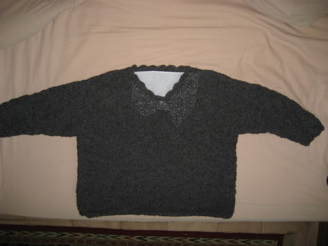 Grey Alpaca Sweater
