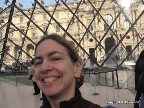 in the Louvre pyramid